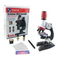 Wholesale Microscope Kids - Children Toy 1200x Zoom Illuminated Monocular Science Microscope for Birthday Gift