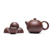 Wholesale Purple Clay Teapot Set - YiXing Purple Sand Tea Set health teapot Half Handmde Product Made Tea Better Taste Simple But Value Teaset