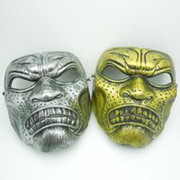 Wholesale Sparta Costume - on sale Undead Halloween Mask Cosplay Full Face Sparta Mask Warriors costume Antique Gold Silver party Mask free shipping