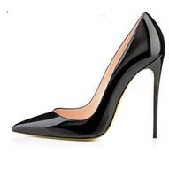 Wholesale Shoes Woman Pumps - Brand 12CM High Heels Shoes Woman High Heels Pumps Wedding Bridal Shoes Black Women Shoes High Heels Pumps