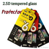 Wholesale Iphone Design Screen Protector - New arrival 2.5d 9H tempered glass protector film screen protector for iphone samsung smart phone with new design paper package