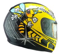 Wholesale Full Size Helmet - DOT ECE US SPARX full Face motorcycle helmet ABS motorcycle racing helmets S-07 Hornet yellow bees size L XL XXL