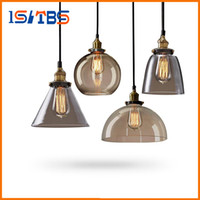 Wholesale Vintage Lustres - Retro Vintage Pendant Lamp Lustres Glass Lampshade Pendant Light E27 110V 220V for Dinning Room Home Decoration Lighting