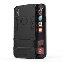 Wholesale X Men Wallet - Heavy Duty Hybrid Hard Rugged Iron Man Armor Case For Iphone X 8 7 6s Plus 2 In 1 Phone Cover With Bracket For Note 8 S8 7