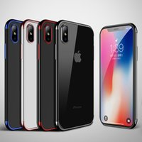 Wholesale iphone back plates - Plating Phone TPU Case Back Cover Case for iPhone 8 Plus iPhone X iPhone 7 Plus Phone 6 OPP Package
