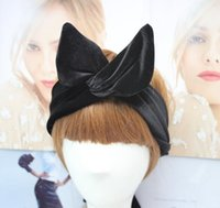 Wholesale Noble Wig Hair - Noble velvet velvet and low-key all-match rabbit ears are issued with a variety of Hair Barrette