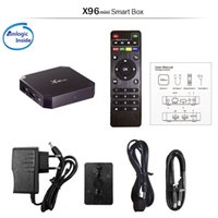 Wholesale flash google - X96 Mini android N 7.1.2 ready amlogic S905W new tv box 1g+8g X96 mini S905W eMMC flash h.265 HEVC 10 bit HDR VP9 android boxes