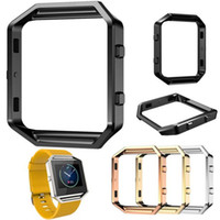 Wholesale Covered Watch Band - For Fitbit Blaze Accessory Watch List Box Watchcase Frame Holder Case Cover Metal Band For Fitbit Blaze Smart Watch