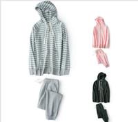 pijama de inverno venda por atacado-2017 para o inverno de espessura Zipper camisola pijamas set terno com capuz homens e mulheres casal modelos conjunto de pijamas