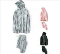 ingrosso pigiama invernale per gli uomini-2017 per pigiama invernale maglione con cerniera spessa set completo di pigiami per uomo e donna con cappuccio