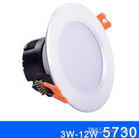 Wholesale Epistar Chip Led Downlight - Super bright Round led Downlight 3W 5W 7W 9W 12W AC85-265V white warm white nature white LED Lamps For Home Decoration epistar chip