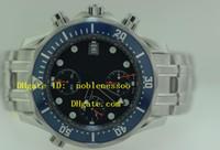 ingrosso lavoro di legame-Cronografo da uomo di lusso funzionante Orologio Blue 300M 2599.80.00 Movimento al quarzo James Bond Orologio da uomo professionale in acciaio inossidabile coassiale