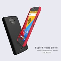 Wholesale Nillkin Screen Protector - NILLKIN phone cover case for MOTO C C plus Super Frosted Shield matte hard back cover case with free screen protector