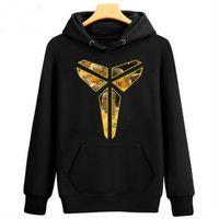 Wholesale Photo Pan - new Spring Autumn Winter Sweatshirt hoodie Black Mamba Kobe Bryant photo basketball inverted triangle Peter Pan