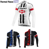 Wholesale Giant Jersey Only - Giant 2017 Winter Thermal Fleece Cycling Jersey Long Sleeves Maillot only Cycling Clothing MTB Outdoor Bike Maillot Ropa Ciclismo Hombre