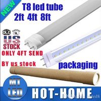 Wholesale White Led Manufacturers - *50 manufacturers sale LED T8 Tube 22W 2200LM SMD 2835 Light Bulbs 4 feet 1.2m 2ft 600mm 5ft 1.5m 8ft 2.4m 85-265V led lighting fluorescent