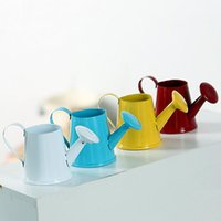 Wholesale Watering Can Wedding Favor - Creative Watering Can Shaped Mini Wedding Bucket Favor Box Baby Shower Candy Flower Iron Kettle ZA4938