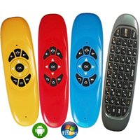 Wholesale Wireless Tvs - C120 Fly Air Mouse Mini Wireless QWERTY Keyboard Remote Control Game Controller For Android TV Set Top Box Mini PC Gyroscope