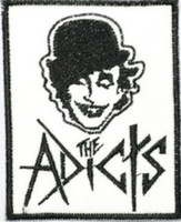 Wholesale Punk Emo Bands - THE ADICTS Droogs Droogies Music Band Embroidered LOGO Iron On Patch Emo Goth Punk Rockabilly Customized patch available