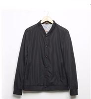 Wholesale army green windbreaker men resale online - Casual Bomber Jacket Men Army Green Black Spring Autumn Windbreaker New Brand Clothing