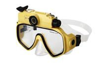 Wholesale Professional Tv Camera - diving glasses cameras underwater 30M Waterproof HD 720P sports Digital PC Camera Video Diving Scuba Mask Play on TV DV-20