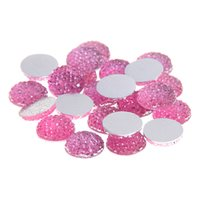 Wholesale Clothing Embellishments Wholesale - 8mm-18mm Light Rose Color Round Glue On Resin Beads Flatback Scrapbooking Crafts Non Hotfix Rhinestones DIY Bags Shoes Clothes Embellishment