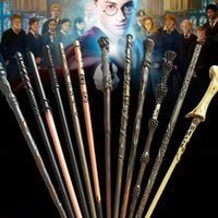 Wholesale Wooden Toy Box Wholesale - Harry Potter Magic Wand with Ollivanders Wand Box 13 Roles Hermione Voldermort Magic Wands with Metal Core Halloween Cosplay Novelty Toy