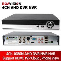 Wholesale High Definition Cctv Dvr - P2P Cloud 4CH AHD DVR Analog High Definition 4 In 1 by Hybrid DVR HVR NVR 4CH Full AHDNH 1080P H.264 25fps Realtime 720P CCTV DVR NVR HVR
