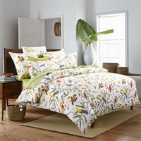 Wholesale Classic Bedding Sets - Home textile New Classic American country style 100% luxury Egyptian cotton 4pcs Bedding sets flowers and birds queen king size pillowcase
