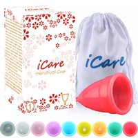 Wholesale Menstruation Cup - New iCare Brand Reusable 100% Medical Grade Silicone Menstrual Cup Feminine Hygiene Product Lady Menstruation Copo