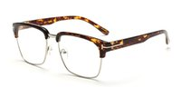 Wholesale Leopard Print Metal - Metal Half Frame Glasses Men 2016 Brand Eyeglasses Computer Women Optical Eye Glasses Frame Glasses Vintage Oculos de grau