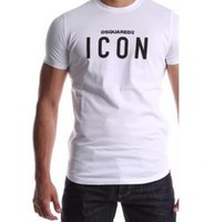 Wholesale icon prints - Men hip hop ICON letter print BALRED t shirt Cotton brand Clothing T-shirt Fitness tops Tee Moleton Fashion tshirt