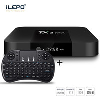 Wholesale mouse settings - TX3 Mini Set Top Box With Air Mouse 1G Ram 8G Rom TV Box 4K Media player Chip S905W Quad Core TV boxes