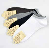 Wholesale Invisible Socks Bamboo Men - Wholesale-Summer winter Soft Colorful sport socks men's socks bamboo cotton for Ankle invisible men socks stockings 5pair=10pcs US03