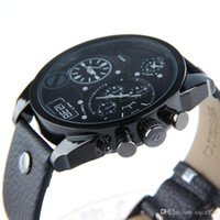 Wholesale 5mm Watch - Men'sLuxury brand quartz watch 'Mega Chief' Leather Strap Watch, 5mm Free shipping new sell like hot cakes Double machine Me