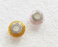 ingrosso barili marroni-Boutique argento placcato classico 925 ale fai da te perline di cristallo accessori gioielli grande foro di vetro di fascini misura il braccialetto collana 10 pz ZHZP002