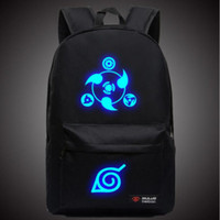 mochila leinwand großhandel-Naruto Luminous Rucksäcke Hokage Schule Reise Laptop Tasche für Jugendliche Japanischen Anime Leinwand Rucksack Bolsas Mochila Escolar