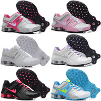 Wholesale Pink Cotton Sport Dress - New woman shox deliver NZ 809 R4 designs womens basketball running dress sneakers sport Avenue 803 lady crystal lace flat shoes 36-40