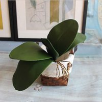 Wholesale Cheap Wholesale Orchids - Real Touch Artificial Phalaenopsis Orchid Leaves Plants Flower Cymbidium Table Wedding Home Decoration Cheap Fake Flowrs
