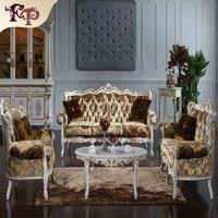 Europäischen Stil Wohnzimmer Möbel Großhandel Royalty Classic Sofagarnitur   Rokoko Style Classic Wohnzimmer Set