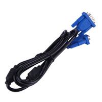 svga uzatma kablosu toptan satış-1.5 M VGA Kablosu HD 15 pin erkek VGA SVGA Uzatma Kablosu kablosu PC Dizüstü Projektör LCD Monitör