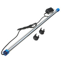 Al por mayor-50CM 2.5W impermeable 2835 SMD 45 bar Aquarium Fish Tank Luz LED sumergible lámpara abajo AC220V blanco azul RGB enchufe de EE.UU.
