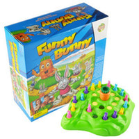 Wholesale Funny Boy Games - Funny Bunny Rabbit Competitive Desktop Playing Game Child Interaction Necessary Party Board Puzzle Games Kids Love Christmas Gift Toys