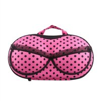 Wholesale Portable Bra Bag - Wholesale-IMC Portable Organizer Case Bag for Underwear Lingerie Bra Protect EVA Fuchsia
