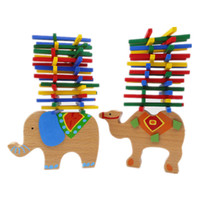Wholesale Wood Elephant Toy - Baby Toys Educational Elephant Camel Balancing Blocks Wooden Toys Beech Wood Balance Game Montessori Blocks Gift For Child