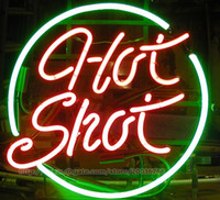 Wholesale neon shop signs resale online - Hot Shot Neon Sign Store Shop Company Club Custom Handcrafted Real Glass Tube Neon Display Sign quot X14 quot