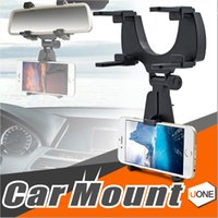 Wholesale Car Mp3 Device - Car Mount Holder Car Rearview Mirror Mount Truck Auto Bracket Holder Cradle for iPhone X 8 8 plus Samsung GPS   PDA   MP3   MP4 devices