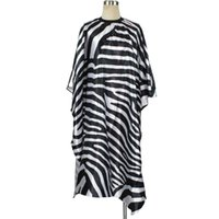Wholesale hair salon gowns - High Quality Zebra Pattern Professional Hairdressing Cutting Cape Barber Popular Hair Salon Gown Cape For Adult