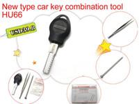 hu66 al por mayor-Nuevo tipo de herramienta de combinación de clave de coche HU66 Auto herramientas de reestructuración de llave Herramientas de selección de moldes clave herramientas de cerrajería