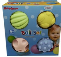 Wholesale Hand Massage Balls - Children's educational toys thorn ball touch massage bump hands to catch the ball Baby's senses baby bobo ball
